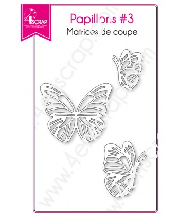 Matrice de coupe Scrapbooking Carterie insecte printemps animal - Papillons 3