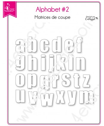 Cutting die Scrapbooking Card making Lowercase Letter Word - Alphabet 2