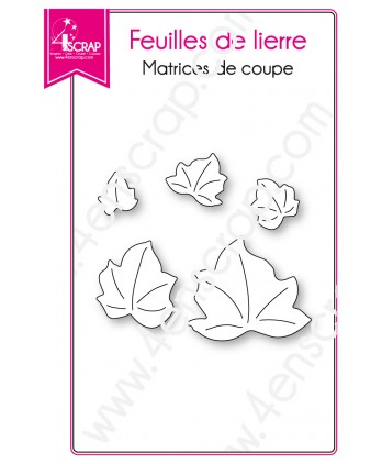 Matrice de coupe Scrapbooking Carterie nature printemps - Feuilles de lierre