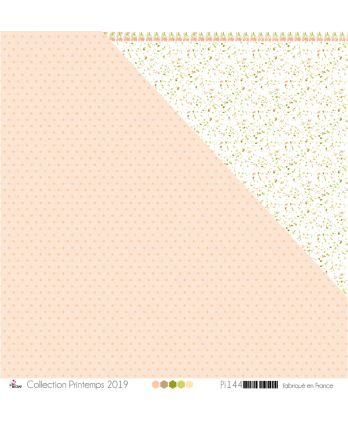 "Printed Paper Scrapbooking Card making - ""Salmon Dots on Salmon Background"""