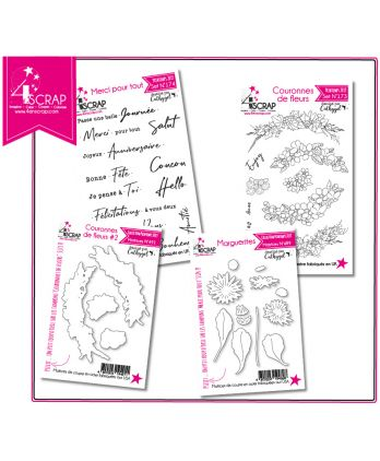 "Cutting Die Clear Stamp Scrapbooking Card making - Pack ""Card making 2"""