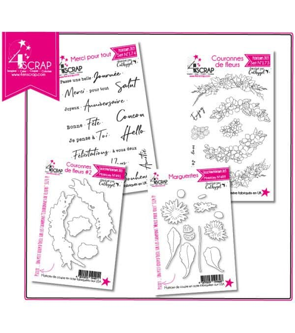 "Tampon transparent matrice die Scrapbooking Carterie - Pack ""Carterie 2"""