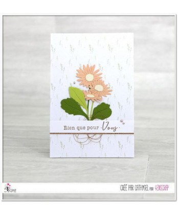Matrice de coupe Scrapbooking Carterie fleur feuille nature - Marguerites