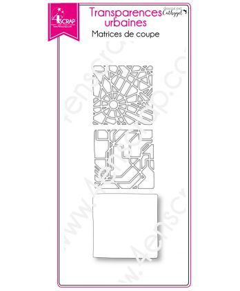 Cutting die Scrapbooking Card making city metro plan - Urban Transparencies
