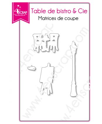 Matrice de coupe Scrapbooking Carterie lampadaire paris chevalet - Table de bistro & Cie