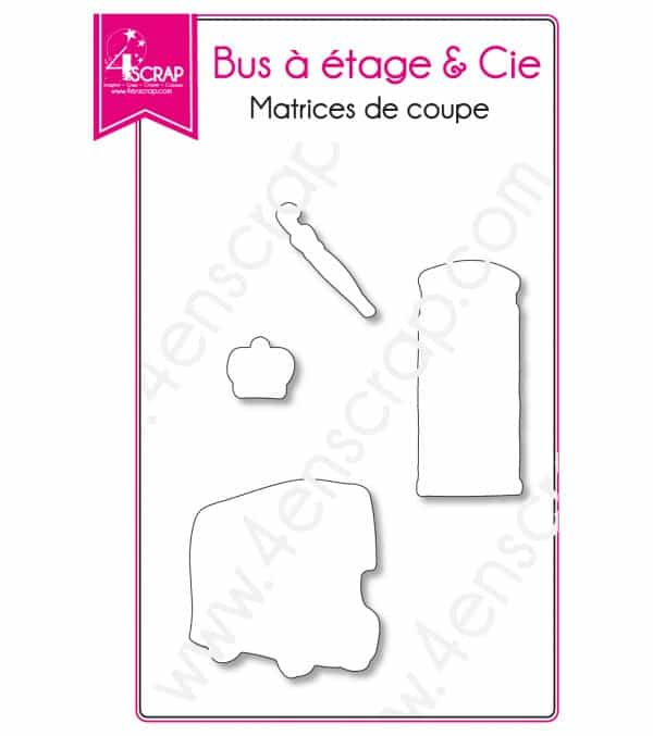 Matrice de coupe Scrapbooking Carterie Londres ville transport - Bus à étage & Cie