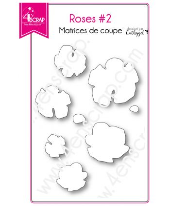 Matrice de coupe Scrapbooking Carterie fleur nature - Roses 2