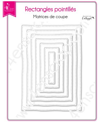 Matrice de coupe Scrapbooking Carterie forme cadre - Rectangles pointillés