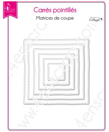 Cutting die Scrapbooking Card Making Shape Frame - Dotted Squares