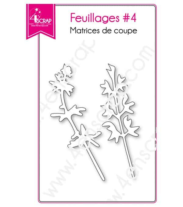 Matrice de coupe Scrapbooking Carterie feuille nature - Feuillages 4