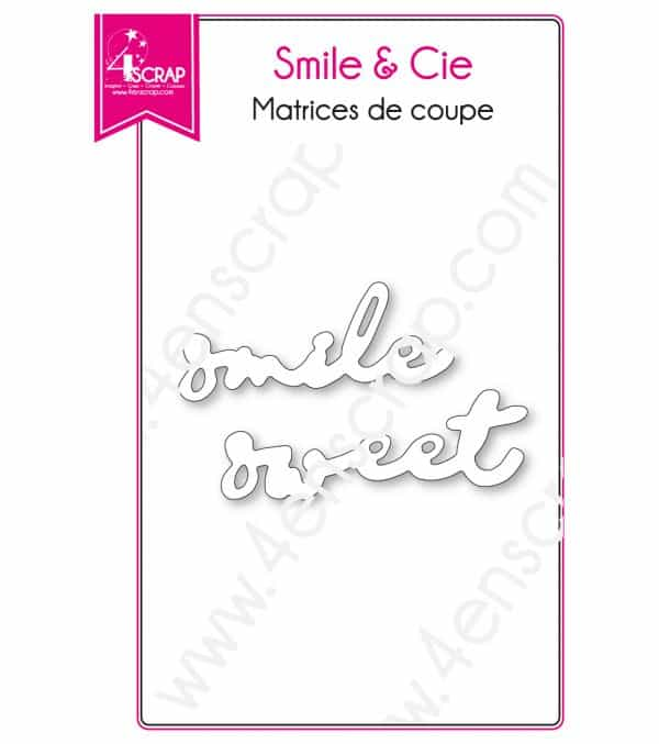 Matrice de coupe Scrapbooking Carterie sweet sourire mot - Smile & Cie