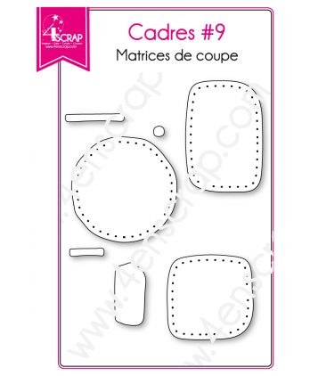Cutting die Scrapbooking Card making shape label - Frames 9