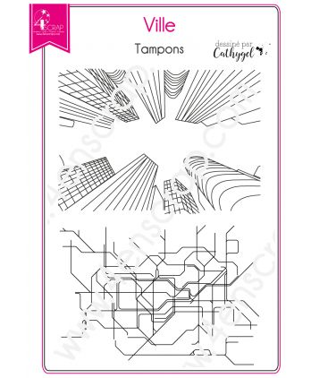 Clear Stamp Scrapbooking Card making metro urban plan - City