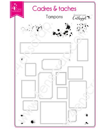 Clear Stamp Scrapbooking Card making label board - Frames & Stains