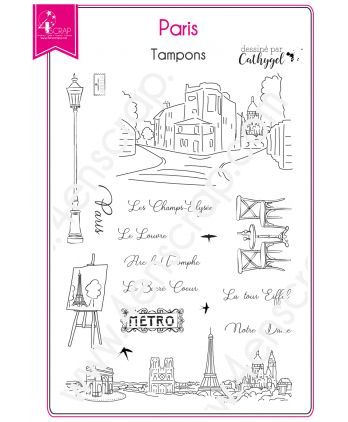 Clear Stamp Scrapbooking Card making Capital France City - Paris