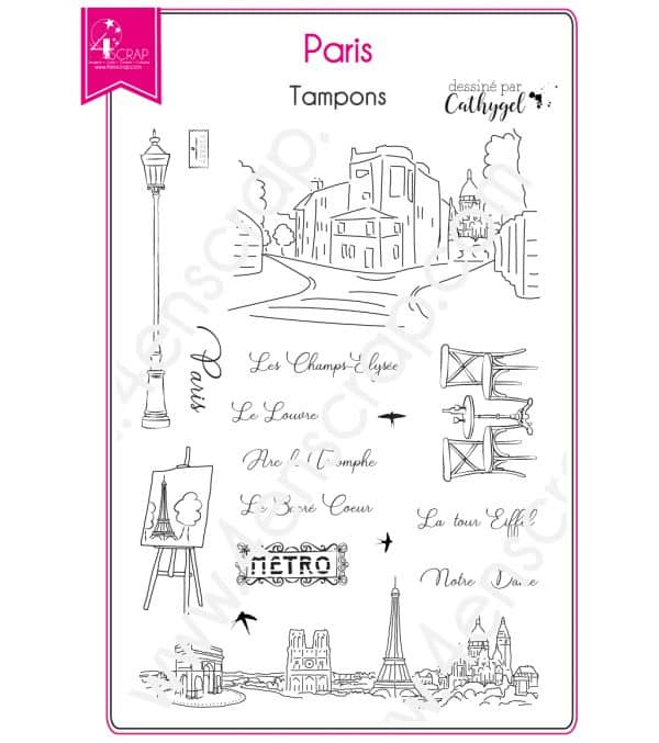 Tampon transparent Scrapbooking Carterie capitale france ville - Paris