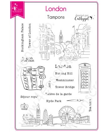 Clear Stamp Scrapbooking Card making Capital England City - London