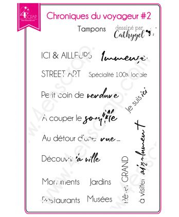Clear Stamp Scrapbooking Card making Text Travel City - Traveler's Chronicles 2