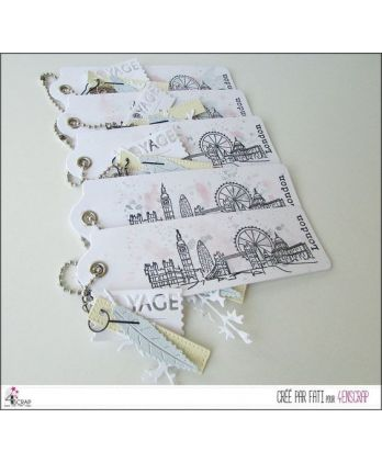 Tampon transparent Scrapbooking Carterie capitale angleterre ville - London