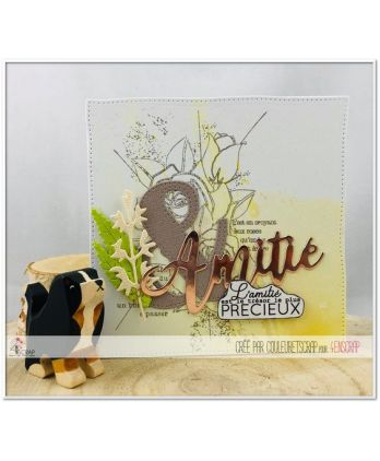 Matrice de coupe Scrapbooking Carterie mot relation amour - Amitié 2