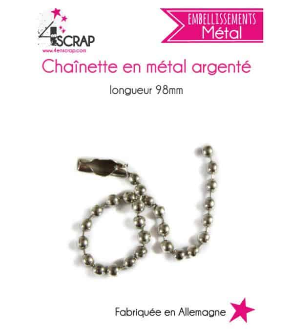Embellishment Scrapbooking Card Making - silver metal chain