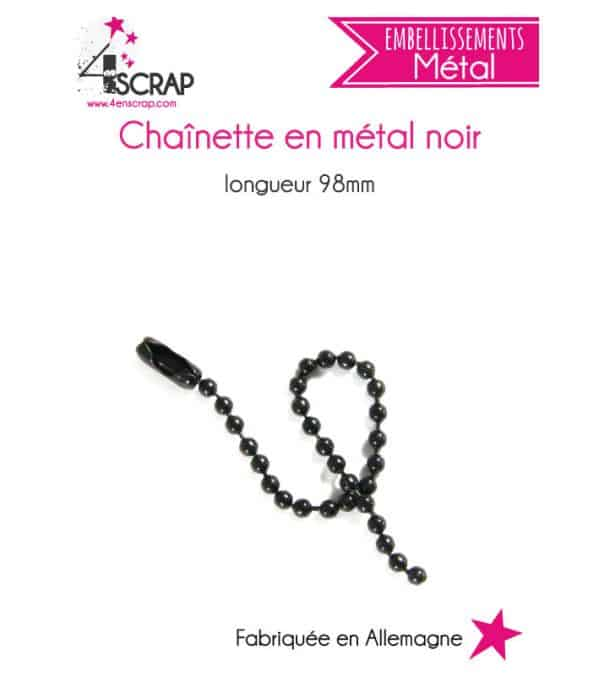 Embellishment Scrapbooking Card Making - black metal chain
