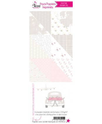 Pack Papier Imprimé Scrapbooking Carterie - Printemps 2018
