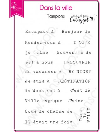 Clear Stamp Scrapbooking Card making Text Urban Travel - In The City