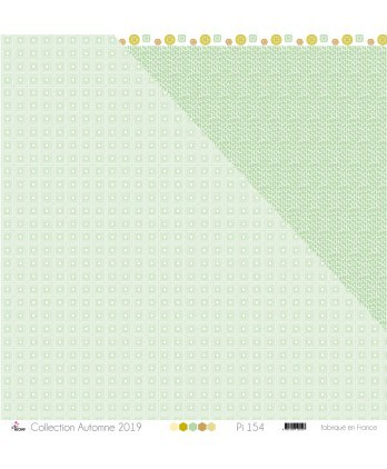 "Printed Paper Scrapbooking Card Making - ""Water green squares on white background"""