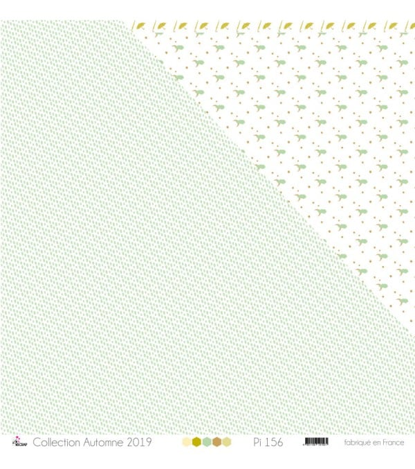 """Printed Paper Scrapbooking Card Making - """"Yellow & Gray Watercolor on White Background"""""""