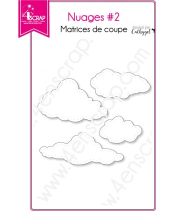 Matrice de coupe Scrapbooking Carterie ciel - Nuages 2