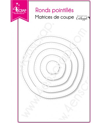 Matrice de coupe Scrapbooking Carterie nature - Ronds pointillés