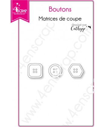 Matrice de coupe Scrapbooking Carterie tricot couture - Boutons