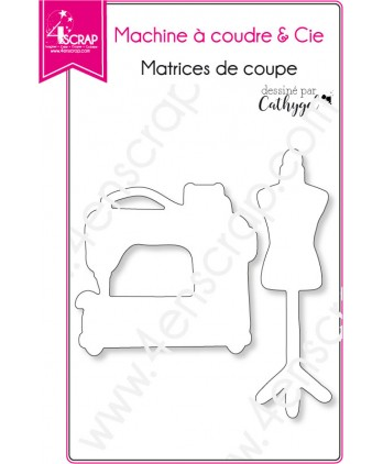 Cutting die Scrapbooking Card Making sewing mannequin - sewing machine & Co