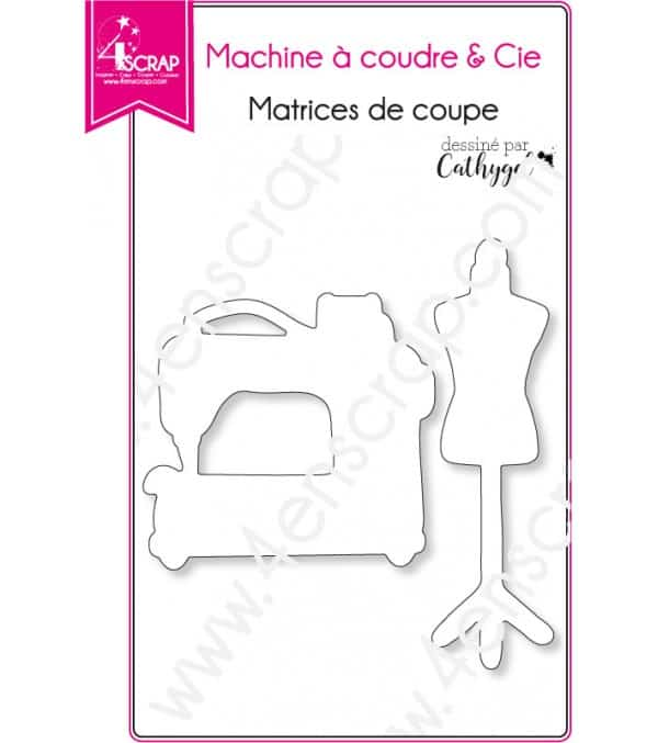 Matrice de coupe Scrapbooking Carterie couture patron - Machine à coudre & Cie