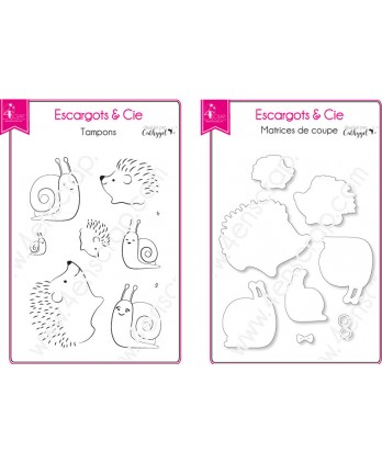 Cutting die Clear Stamp Scrapbooking Card making animals hedgehog nature - Snails & Co