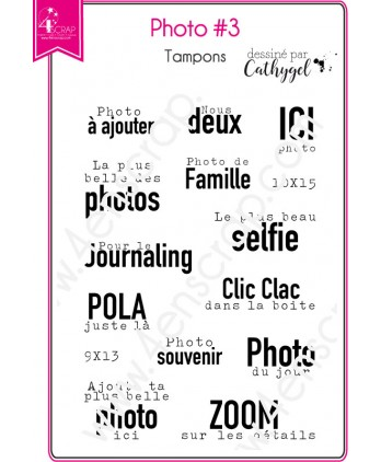 Tampon transparent Scrapbooking Carterie parapluie famille selfie  - Photo 3