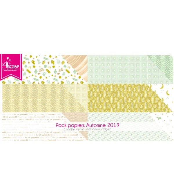 Printed Paper Scrapbooking Card Pack - Winter 2018
