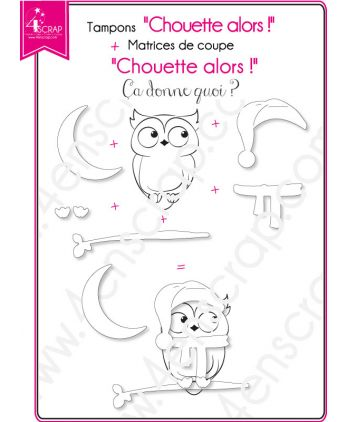 Tampon transparent matrice die Scrapbooking Carterie animaux - Chouette alors !