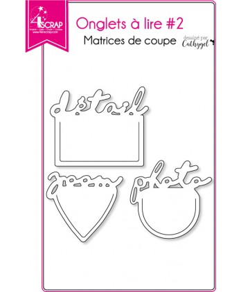 Matrice de coupe Scrapbooking Carterie mot détail zoom photo - Onglets à lire 2