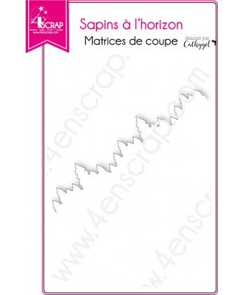 Matrice de coupe Scrapbooking Carterie bordure - Sapins à l'horizon