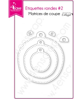 Cutting die Scrapbooking Card Making - rounded labels 2
