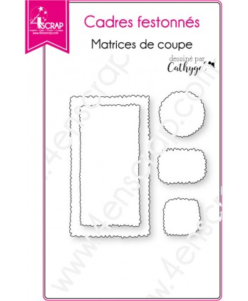 Cutting die Scrapbooking Card Making decoration border - Scalloped frames