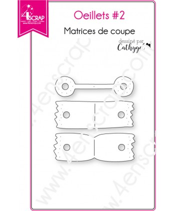 Matrice de coupe Scrapbooking Carterie forme - Oeillets 2