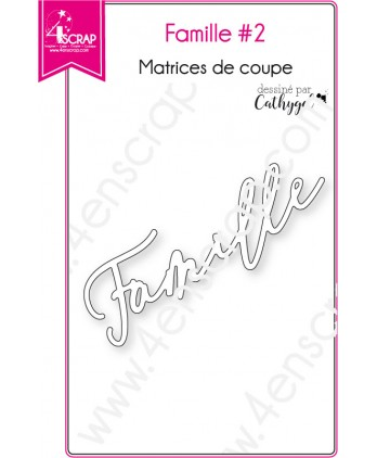 Cutting die Scrapbooking Card Making word - Family 2