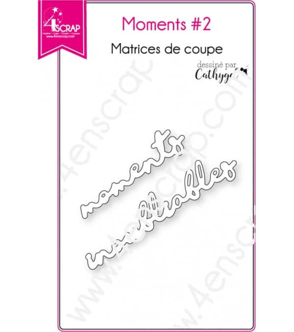 Matrice de coupe Scrapbooking Carterie mots inoubliables - Moments 2