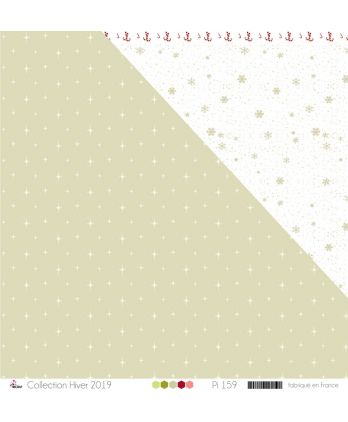 "Printed Paper Scrapbooking Card Making - ""White stars on grey background"""
