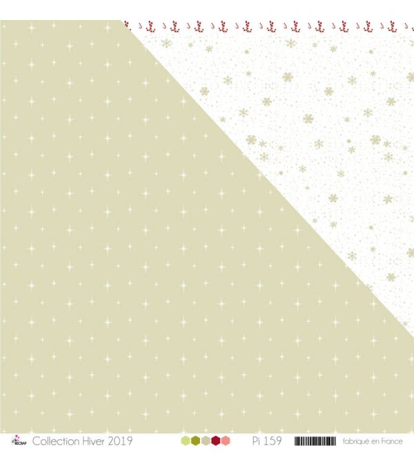 "Printed Paper Scrapbooking Card Making - ""Water green raindrops on White Background"""