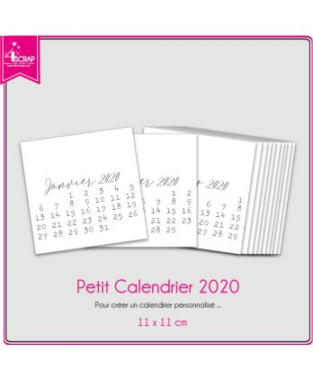 A customiser Scrapbooking Carterie - Petit Calendrier 2020