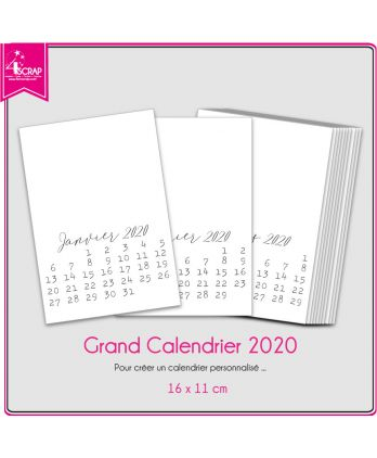 A customiser Scrapbooking Carterie - Grand Calendrier 2020